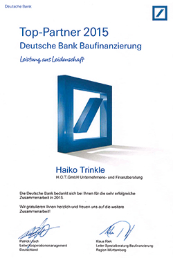 Deutsche Bank Top Partner
